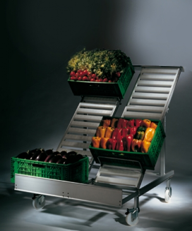 Display units for fruits and vegetables