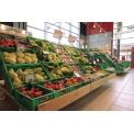 Espositori serie XP con frontalino rovere - utilizzo in supermercato