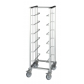 Tray carrying trolley